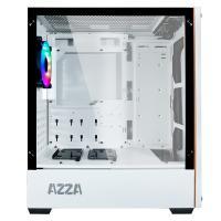 AZZA Apollo 430 ARGB Tempered Glass ATX Case - Black and Grey (No Fan)