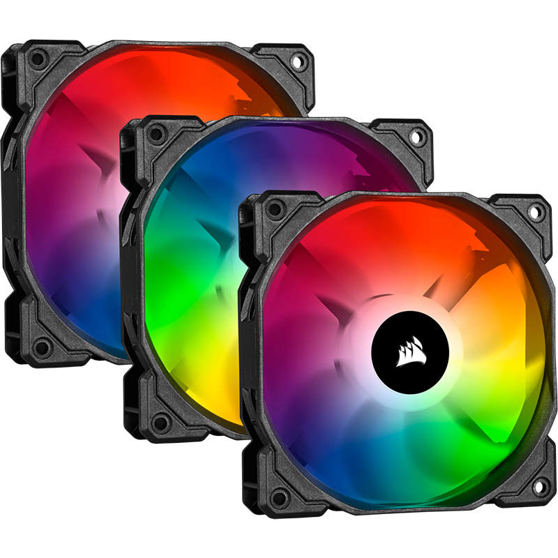 Corsair SP 120mm Fan RGB PRO Triple Pack with Lighting Node Core