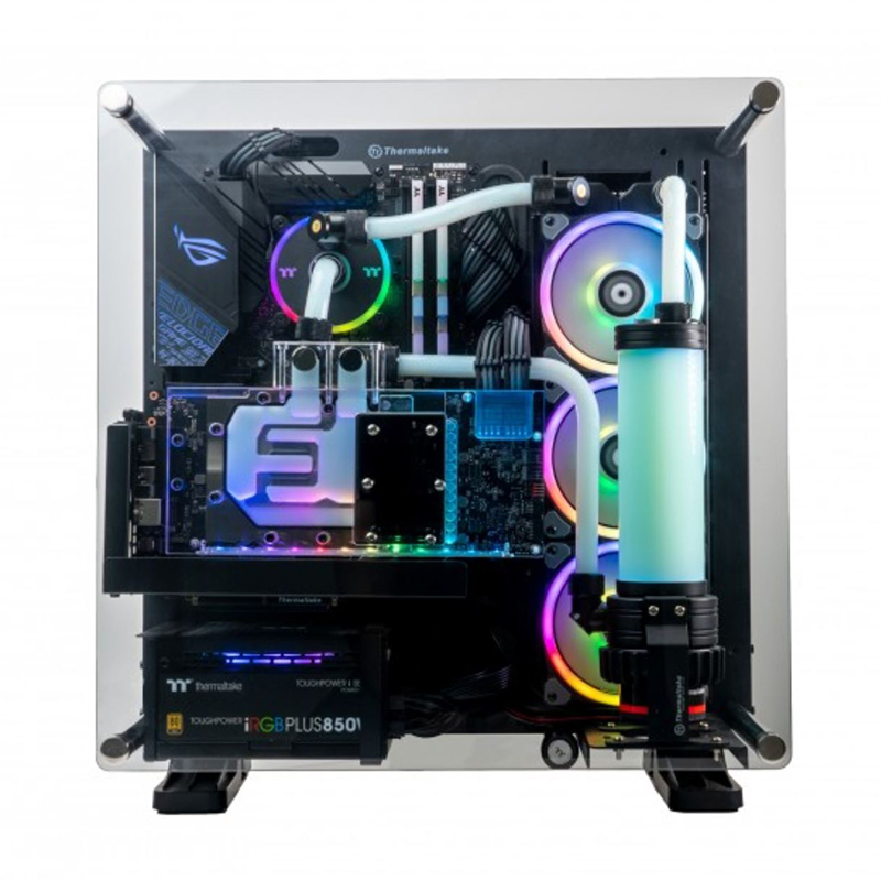 Thermaltake Raptor LCGS Intel i7 9700KF RTX 2070 Super 16G 250G SSD + 2TB HDD Liquid Cooling Gaming System