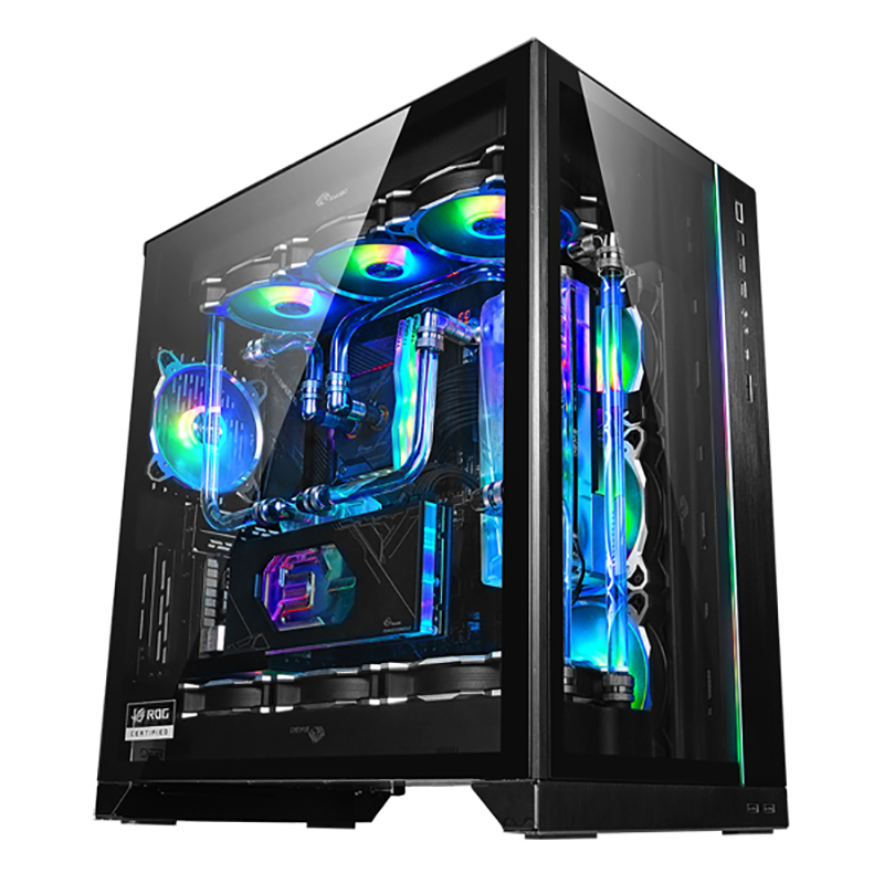 Lian Li PC-O11 Dynamic XL ROG Certified Tempered Glass RGB EATX Case - Black