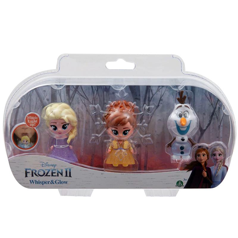 Frozen 2 Mini Whisper and Glow Doll - 3pk