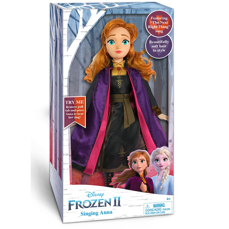Frozen 2 Singing Anna & Elsa Feature Plush - Anna
