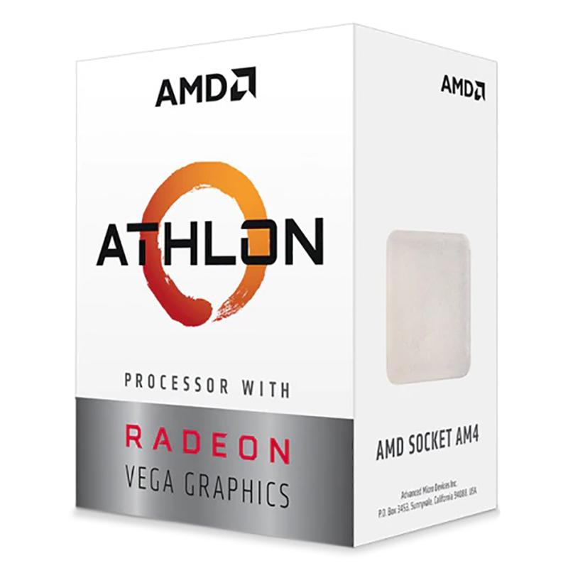 AMD Athlon 3000G Dual Core AM4 3.5GHz APU with Radeon Vega 3 Graphics