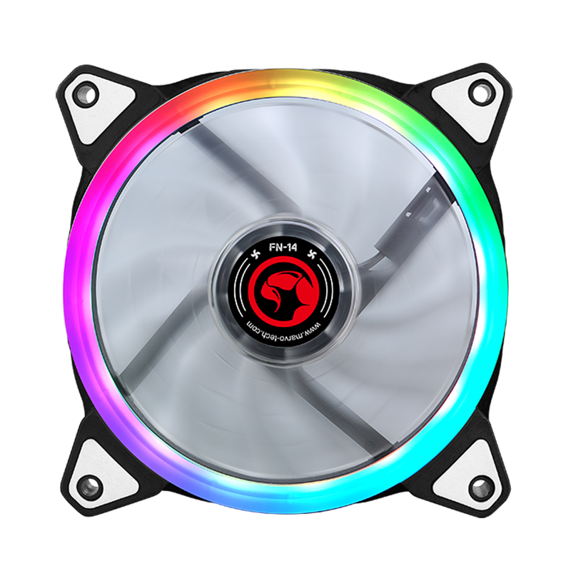 Marvo Scorpion 120mm RGB Light Tube Fan Black