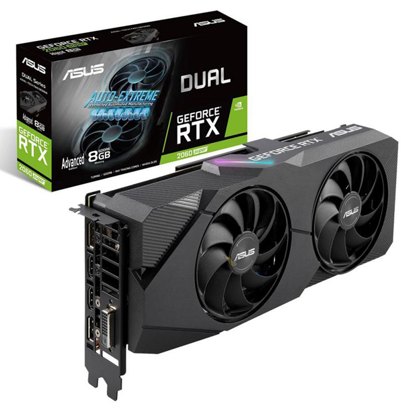 Asus GeForce RTX 2060 Super Dual Evo Advanced Edition 8G Graphics Card