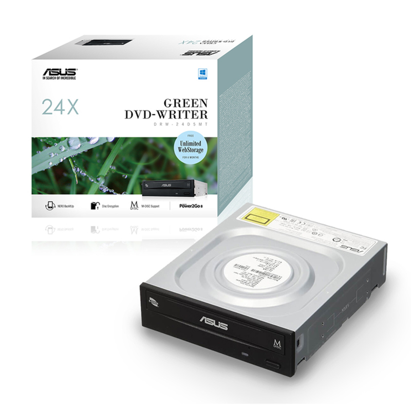 Asus DRW-24D5MT Black Internal Optical Drive - Retail Box
