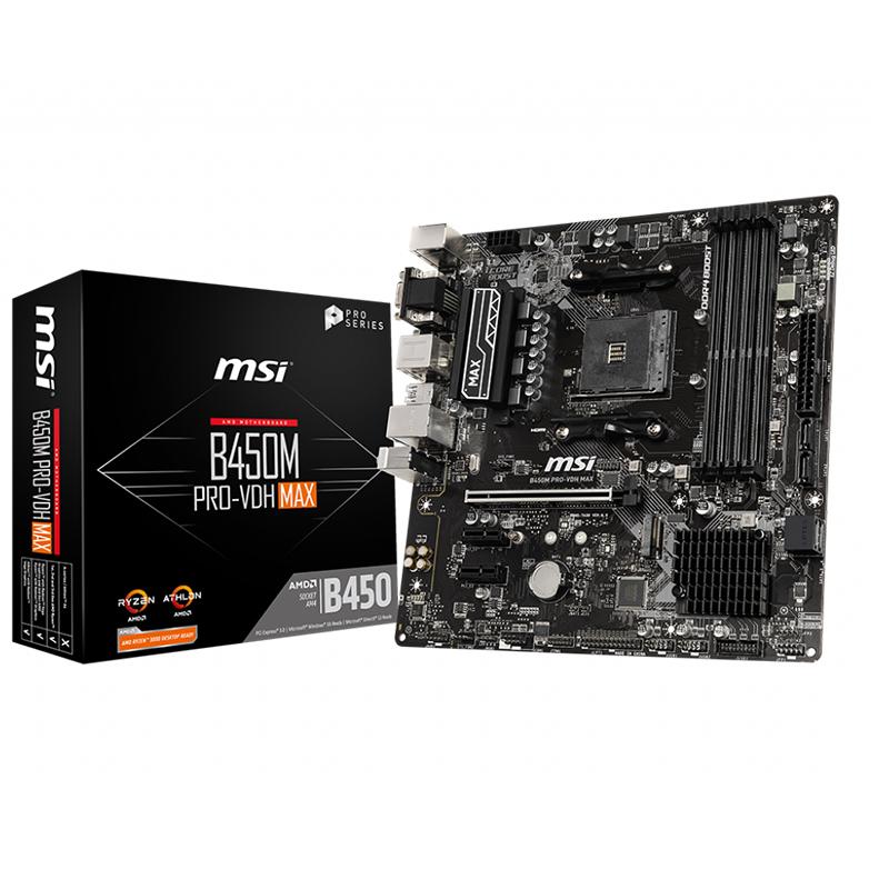 MSI B450M Pro VDH Max mATX AM4 Motherboard