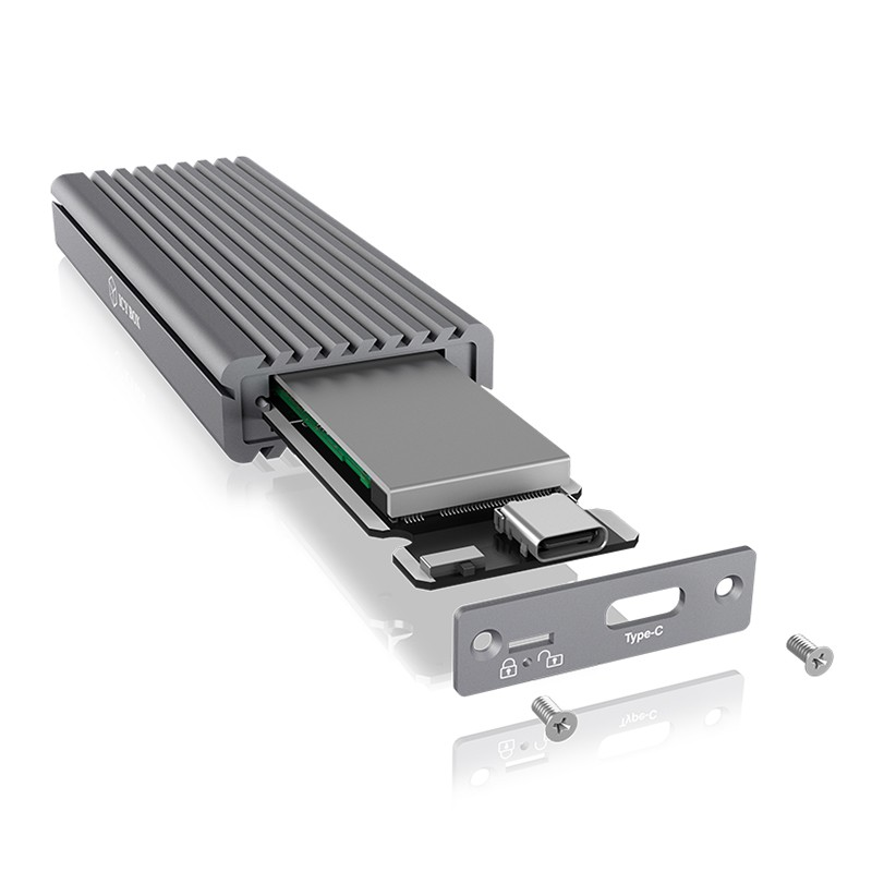 ICY BOX NVMe to USB3.1 Type C Enclosure - Grey