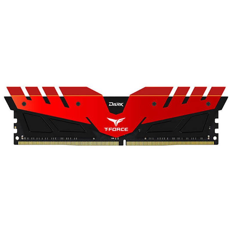 Team 16GB (2x8GB) TDRED416G2666HC15BDC01 T-Force Dark Series 2666MHz DDR4 RAM - Red