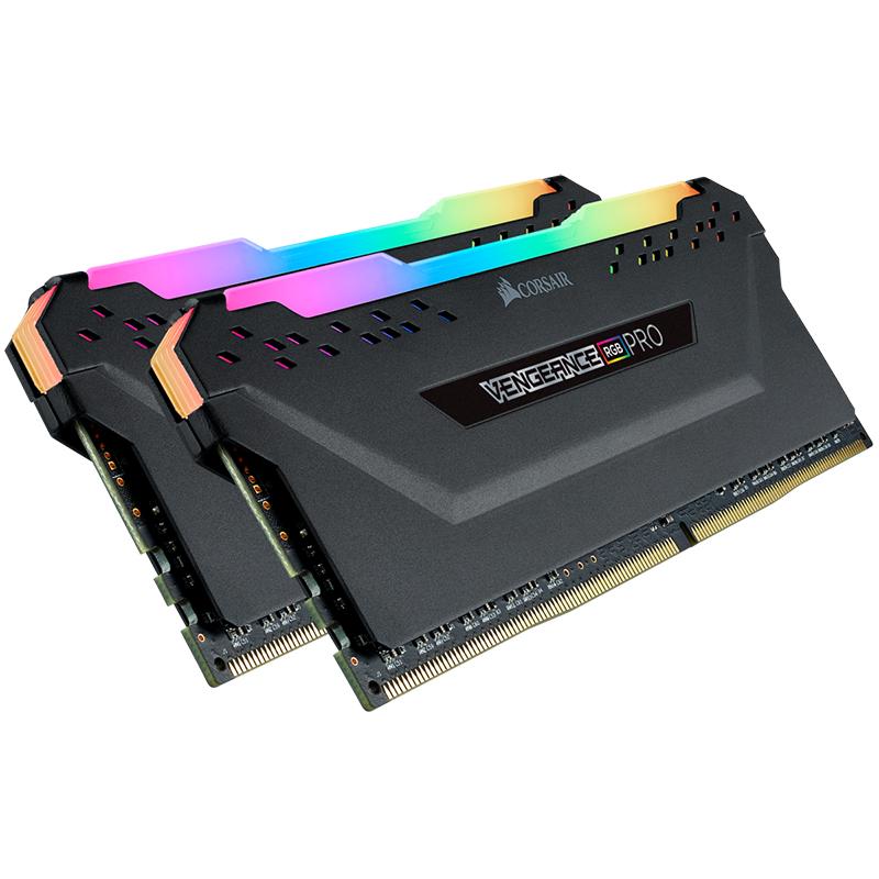 Corsair 16GB (2x8GB) CMW16GX4M2Z3200C16 Vengeance RGB Pro 3200Mhz DDR4 RAM - Black