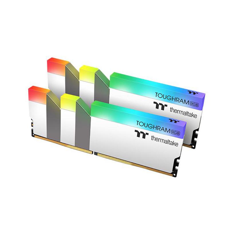 Thermaltake 16GB (2x8GB) R022D408GX2-3200C16A TOUGHRAM RGB 3200Mhz DDR4 RAM - White