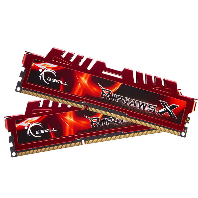 G.Skill 16GB (2x8GB) F3-12800CL10D-16GBXL Ripjaws X 1600MHz DDR3 RAM - Red