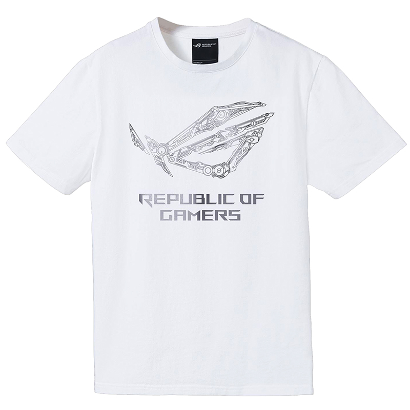 Asus ROG Mechanic T-Shirt White - Medium