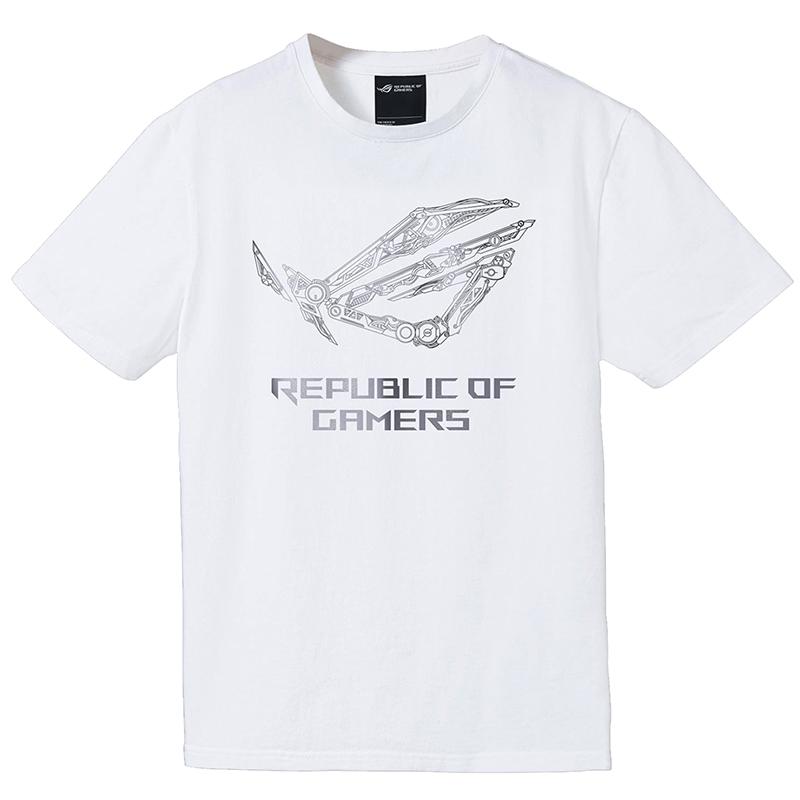 Asus ROG Mechanic T-Shirt White - Extra Large