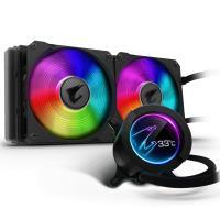 Gigabyte Aorus CPU Liquid Cooler 280 W/LCD Display 140mm RGB Fans