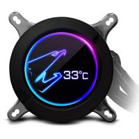 Gigabyte Aorus CPU Liquid Cooler 280 W/LCD Display 140mm RGB Fans