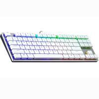 Cooler Master MasterKeys SK630 RGB Slim TKL Mechanical Keyboard - Cherry Red - White Edition