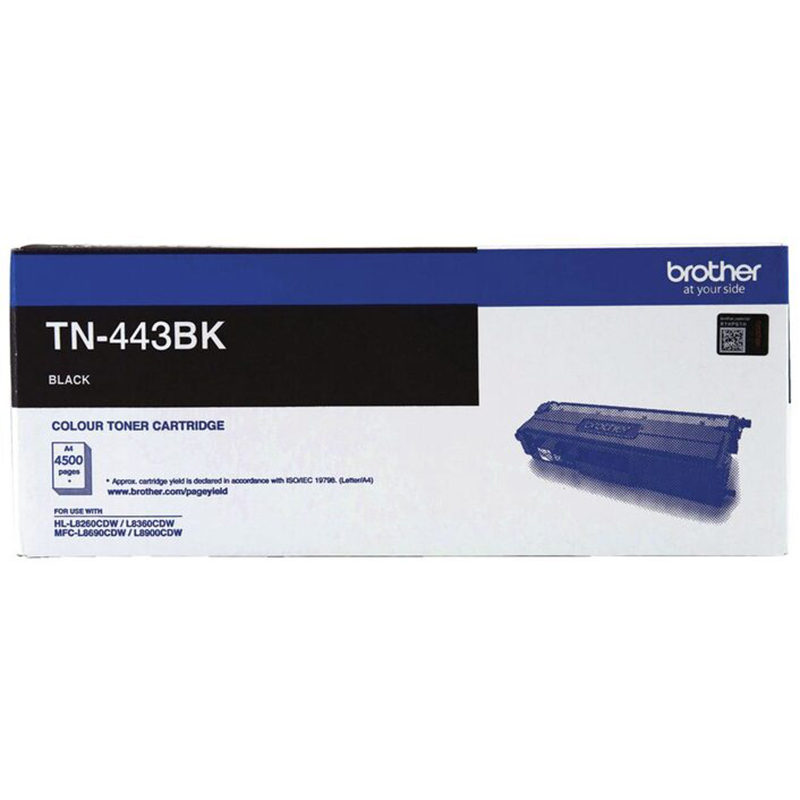 Brother TN-443BK High Yield Black Toner - 4500 Pages