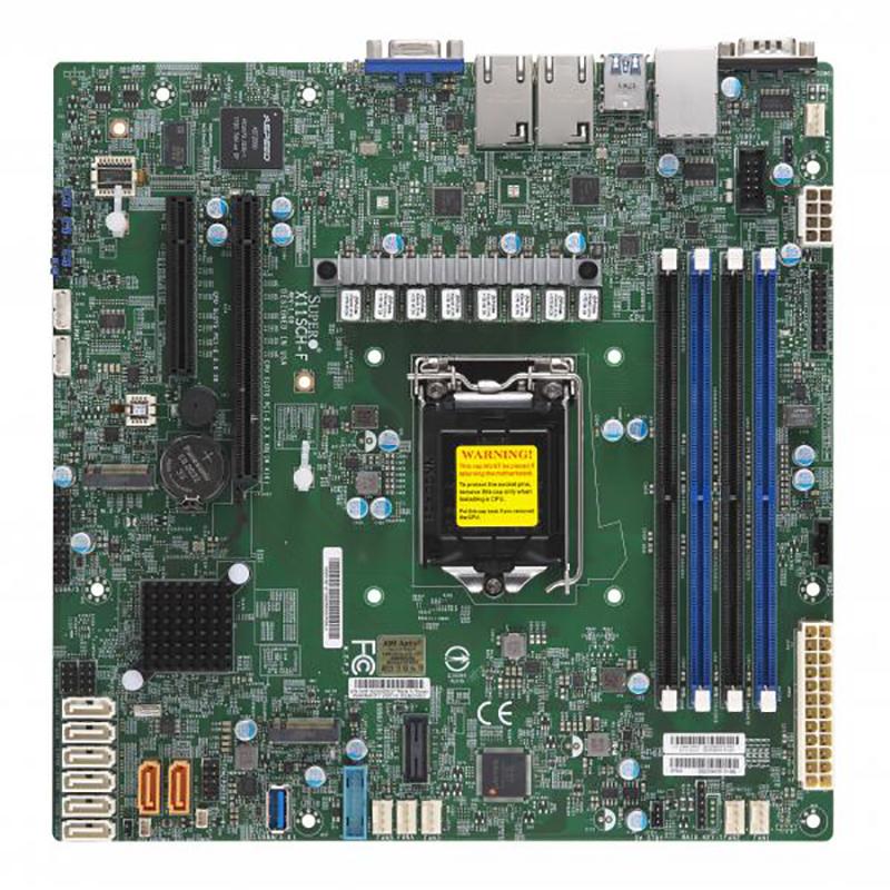 Supermicro X11SCH-F LGA 1151 mATX Server Motherboard