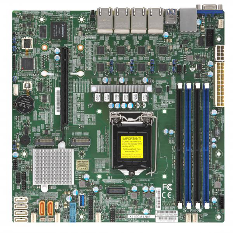 Supermicro X11SCM-LN8F LGA 1151 mATX Server Motherboard