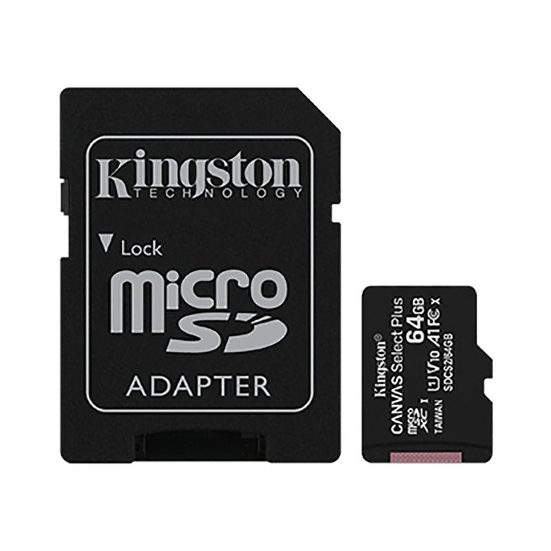 Kingston Canvas Select 64GB C10 100MB/s MicroSDXC Card