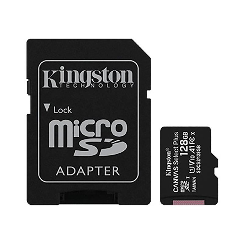 Kingston Canvas Select 128GB C10 100MB/s MicroSDXC Card