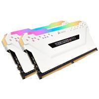 Corsair 32GB (2x16GB) CMW32GX4M2C3200C16W Vengeance RGB Pro 3200Mhz DDR4 RAM - White