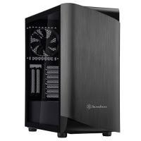 SilverStone Seta A1 Tempered Glass Mid Tower ATX Case - Titanium/Black
