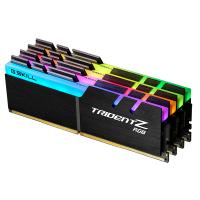 G.Skill 64GB (4x16GB) F4-3200C14Q-64GTZR Trident Z RGB 3200MHz DDR4 RAM - Black