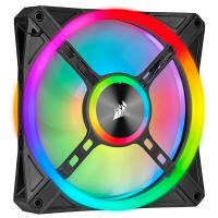 Corsair iCUE QL140 RGB 140mm Fan Black - 2 Pack with Lighting Node Core