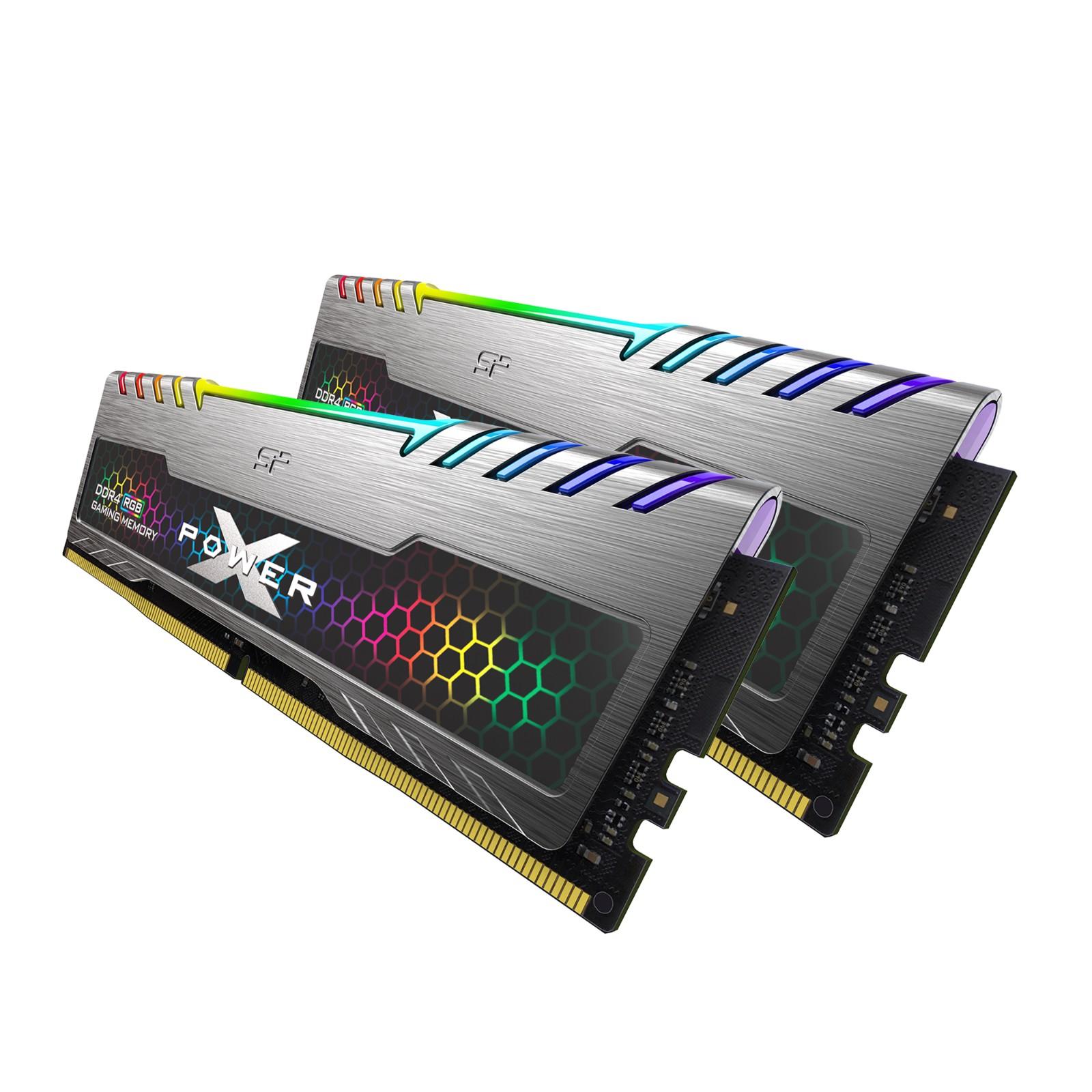 Silicon Power 32GB (2x16GB) RGB DDR4 3200MHz CL16 Turbine Gaming Desktop Memory RAM