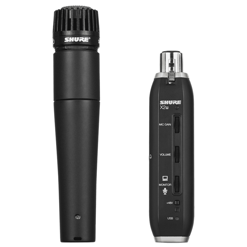 Shure SM57 Cardioid Microphone and USB Adapter
