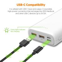 Silicon Power C20QC 20000mAh Quick Charge 3.0 USB C Powerbank Portable Charger, White