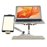 BlueEye Universal and Adjustable Double Arm Stand Holder - White