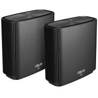 Asus ZenWiFi CT8 AC3000 Tri Band Whole Home Mesh WiFi System Black - 2 Pack