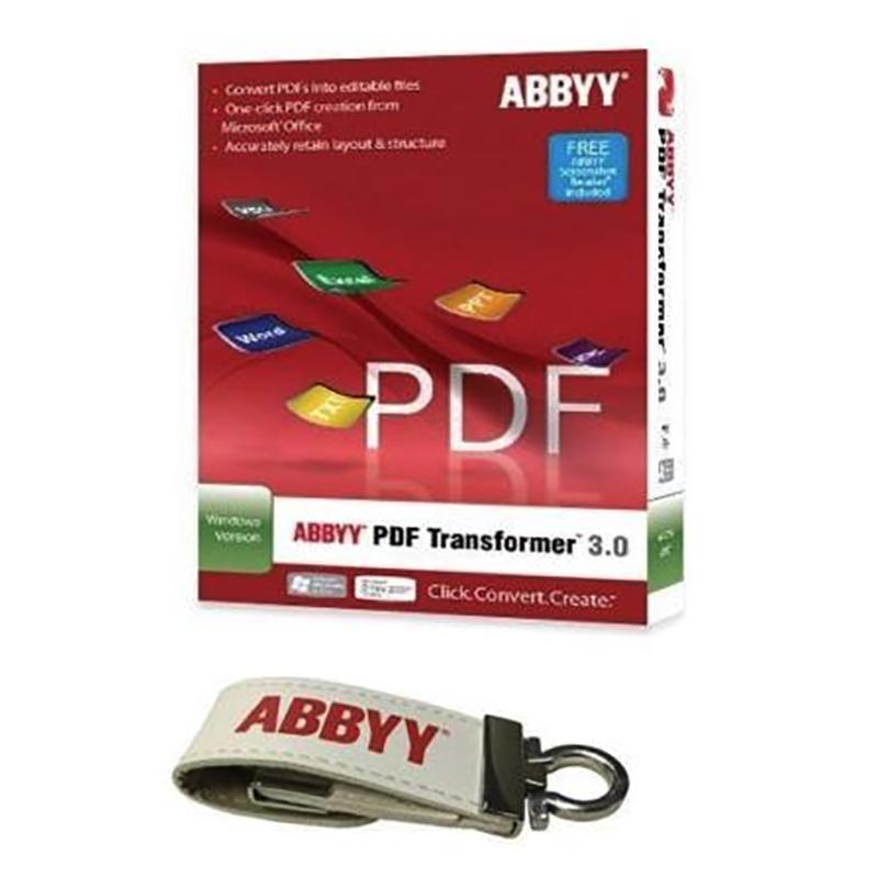 ABBYY USB Key Software Bundle - PDF Transformer+ and Business Card Reader and Screenshot Reader