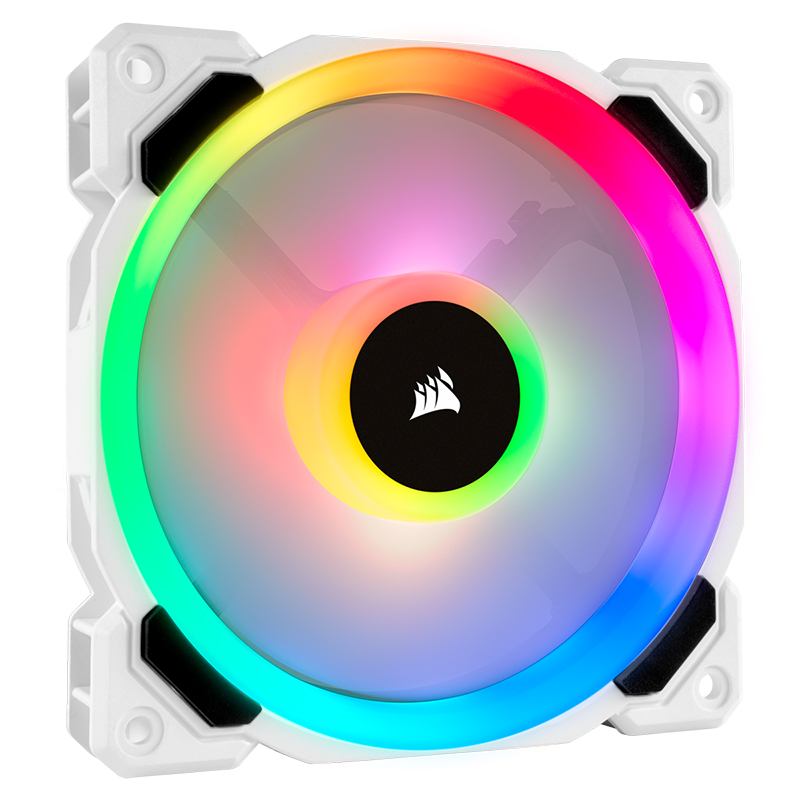 Corsair L120 RGB 120mm Dual Light Loop PWM Fan White - Single Pack