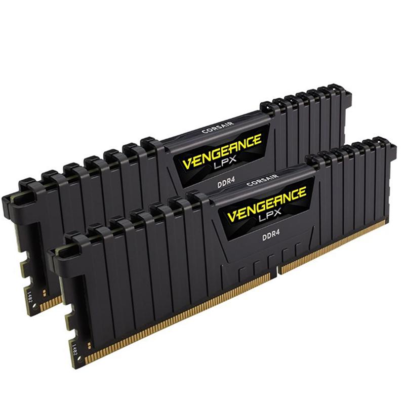 Corsair 64GB (2x32GB)CMK64GX4M2E3200C16 Vengeance LPX 3200MHz DDR4 RAM - Black