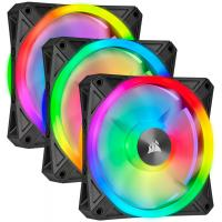 Corsair iCUE QL120 RGB 120mm PWM Fan Black with Lighting Node Core - 3 Pack