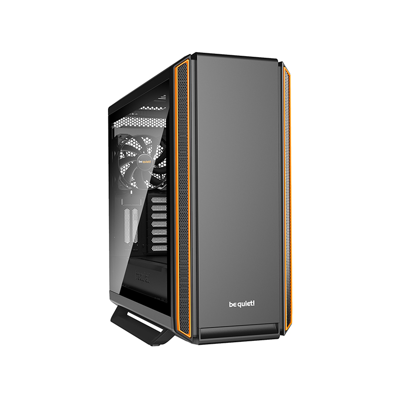 be quiet! Silent Base 801 Tempered Glass ATX Case - Orange