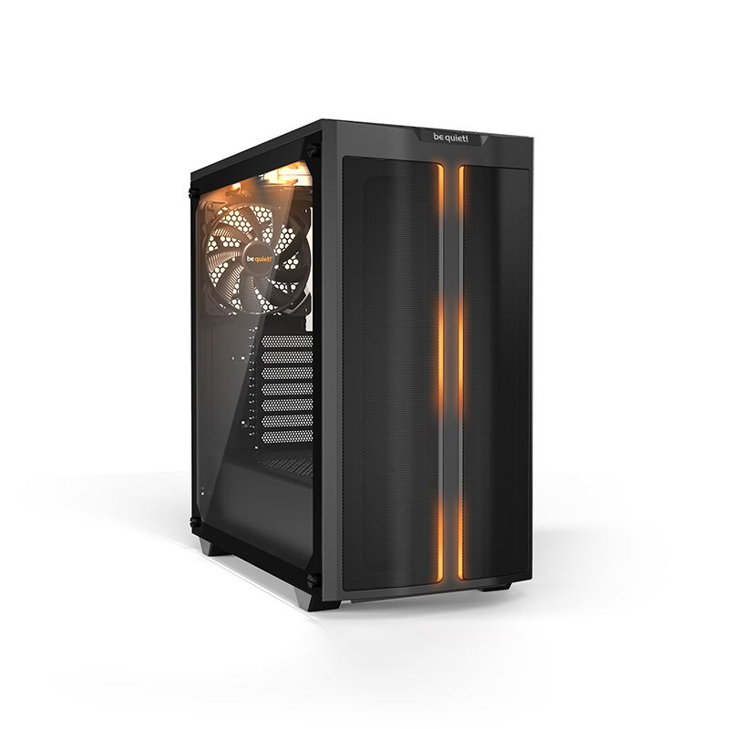 BeQuiet Tempered Glass Side Panel ARGB LED Lighting Pure Base 500DX Black Gaming Case Three x Pure Wings 2 140MM Fans Three Year Manufacturer Warranty