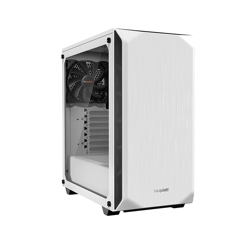 be quiet! Pure Base 500 Tempered Glass ATX Case - White
