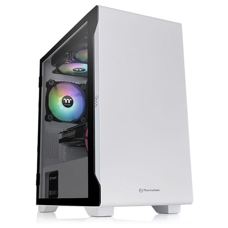 Thermaltake S100 Snow Edition Tempered Glass Micro ATX Case - White