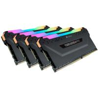 Corsair 64GB (4x16GB) CMW64GX4M4C3200C16 Vengeance RGB Pro 3200MHz DDR4 RAM - Black