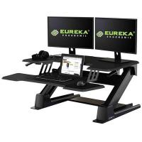 Eureka 36in Ergonomic Height Adjustable Stand Up Desk Converter - Black