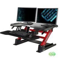 Eureka 36in Ergonomic Height Adjustable Stand Up Desk Converter - Red