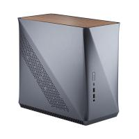Fractal Design Era Mini ITX Case - Titanium Gray Walnut
