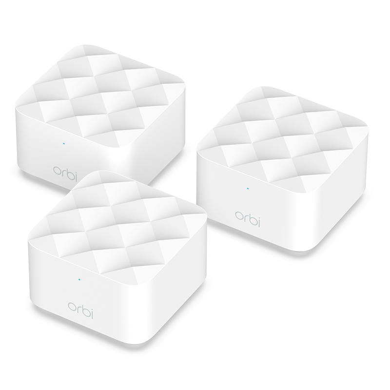 Netgear Orbi Whole Home AC1200 Mesh WiFi System - 3 pack (RBK13-100AUS)