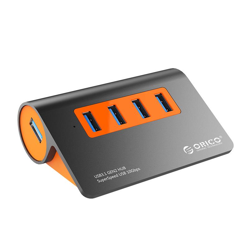 Orico 4 Port USB 3.1 Hub - Orange