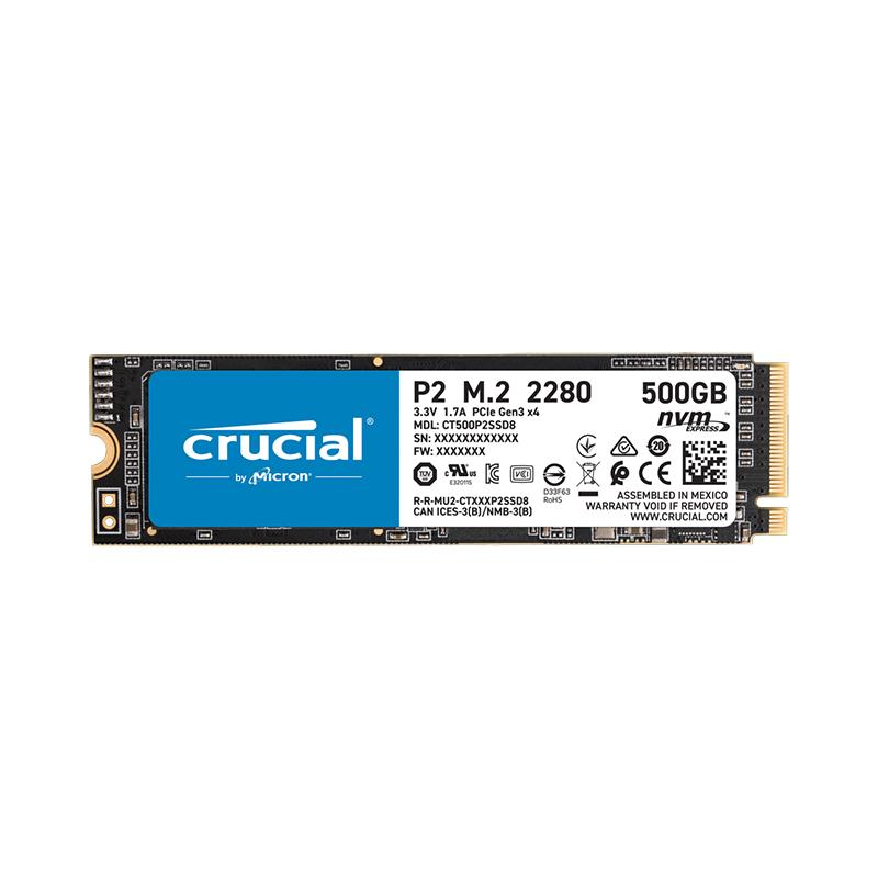 Crucial P2 500GB PCIe M.2 SSD